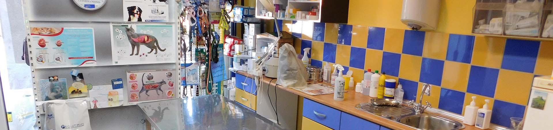 Sala de trabajo-Clínica Veterinaria El Molinar
